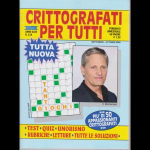 Crittografati per tutti - n. 218 - bimestrale - settembre - ottobre 2020 - 68 pagine