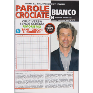 Parole Crociate In Bianco - n. 97 - bimestrale - settembre - ottobre 2020 - 100 pagine
