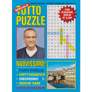 Speciale Tutto Puzzle - n. 96 - trimestrale - settembre - novembre 2020 - 196 pagine
