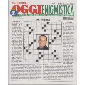Settimanale Oggi Enigmistica - n. 33 - agosto 2020 -