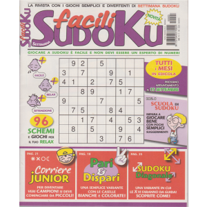 Facili Sudoku - n. 3 - mensile - 11/8/2020 -