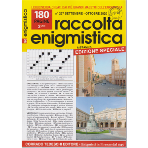 Raccolta Enigmistica - n. 237 - settembre - ottobre 2020 - bimestrale -