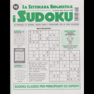 La settimana enigmistica - i sudoku - n. 108 - 13 agosto 2020 - settimanale