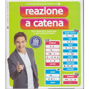 Reazione a catena - n. 6 -settimanale - 13/8/2020