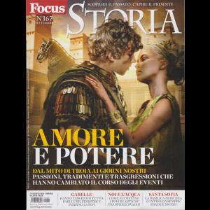 Focus Storia - n. 167 -Amore e potere -  settembre 2020 -mensile