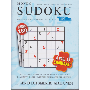 Mondo Sudoku - n. 180 - mensile - agosto 2020