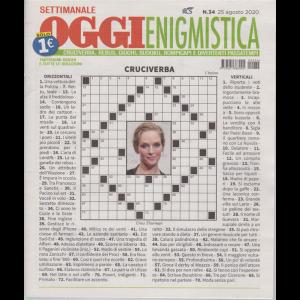 Settimanale Oggi Enigmistica - n. 34 - 25 agosto 2020 -