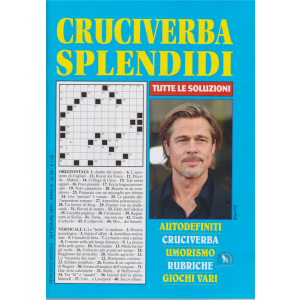 Cruciverba Splendidi - n. 38 - mensile - settembre 2020 -