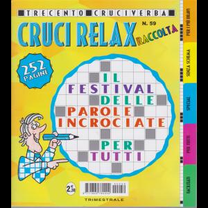 Raccolta Crucirelax - n. 59 - trimestrale - settembre - novembre 2020 - 300 cruciverba - 252 pagine
