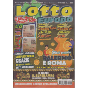 Lotto Europa - n. 8 - mensile - agosto 2020 -