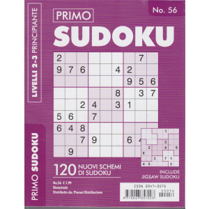 Primo Sudoku - n. 56 - bimestrale - livelli 2-3 principiante -