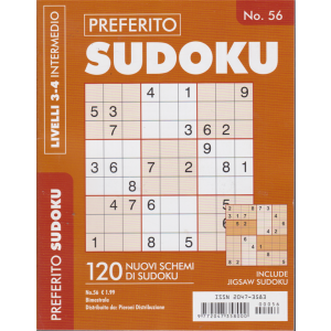 Preferito Sudoku - n. 56 - bimestrale - livelli 3-4 intermedio