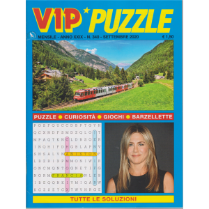 Vip Puzzle - n. 340 - mensile - settembre 2020