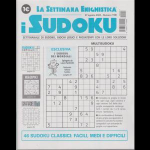 La settimana enigmistica - i sudoku - n. 110 - 27 agosto 2020 - settimanale