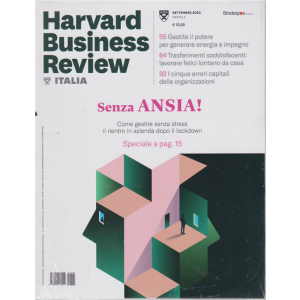 Harward Business Review - n. 9 - settembre 2020 - mensile