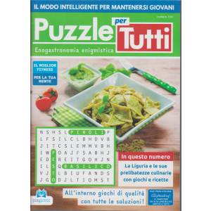 Puzzle per tutti - n. 110 - bimestrale- 3/9/2020 -