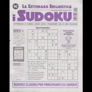 La settimana enigmistica - i sudoku - n. 111 - 3 settembre 2020 - settimanale