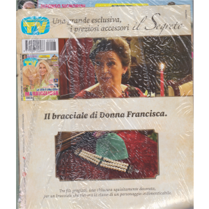 Sorrisi e canzoni tv + Il bracciale di Donna Francisca - n. 23 - rivista + bracciale