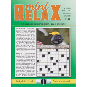 Mini Relax - n. 1998 - settimanale - 8/9/2020 -