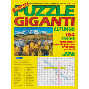 Speciale Puzzle Giganti autunno 2020 -n.101 - trimestrale - ottobre - dicembre 2020 - 164 pagine