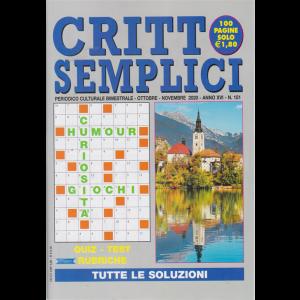 Critto Semplici - n. 151 - bimestrale - ottobre - novembre 2020 -