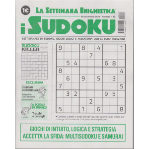 La settimana enigmistica - i sudoku - n. 112 - 10 settembre 2020 - settimanale