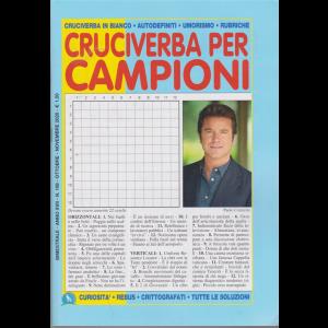 Cruciverba per campioni - n. 108 - bimestrale - ottobre - novembre 2020 -
