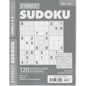 Everest Sudoku - n. 56 - livelli 7-8 estremo - bimestrale -