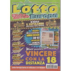 Lotto Europa - n. 9 - mensile - settembre 2020