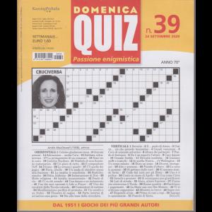 Domenica Quiz - n. 39 - 24 settembre 202 - settimanale