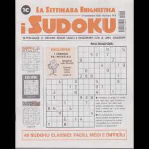 La settimana enigmistica - i sudoku - n. 113 - 17 settembre 2020 - settimanale