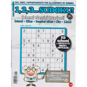 1,2,3 Sudoku - n. 181 - mensile - 18/9/2020 -