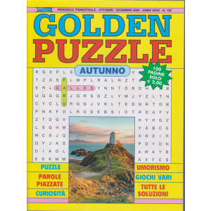 Golden Puzzle - n. 136 - trimestrale - ottobre - dicembre 2020 - 100 pagine