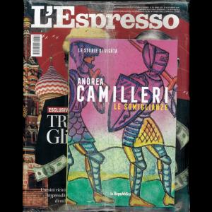 L'espresso - settimanale n. 39 - 20/09/20 + Le Storie di Vigatà vol. 16