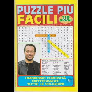 Puzzle Piu' Facili - n. 74 - bimestrale - ottobre - novembre 2020 - 110 giochi -