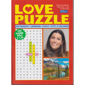 Love Puzzle - n. 346  - mensile - ottobre 2020 - 100 pagine