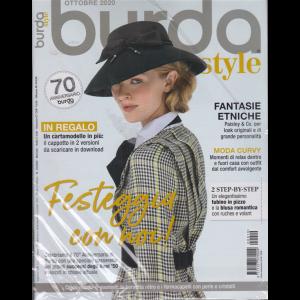 Burda style - n. 10 - ottobre 2020 - mensile + in regalo 2 copertine retro da collezione