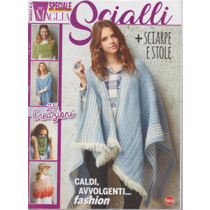 Piu' Maglia Speciale - Scialli + sciarpe e stole - n. 4 - bimestrale - ottobre - novembre 2020 -
