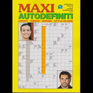 Maxi Autodefiniti - n. 75 - trimestrale - ottobre - dicembre 2020