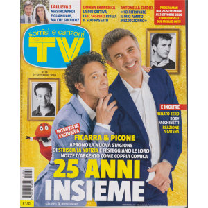 Sorrisi e  Canzoni Tv - n. 38 - settimanale - 22 settembre 2020
