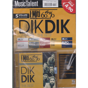 Music Talent Var.89 - I miti anni 60 - 70 - Dik Dik the best - rivista + cd