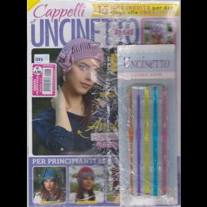 Creativa Uncinetto Special - Cappelli all'uncinetto - n. 43 - bimestrale + 5 uncinetti con diverse misure -