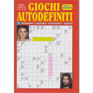 Giochi Autodefiniti - n. 292 - mensile - ottobre 2020 -