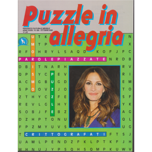Puzzle in allegria - n. 328 - mensile - ottobre 2020 -
