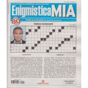 Enigmistica Mia - n. 40 - 5 ottobre 2020 - settimanale