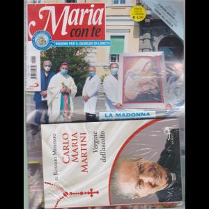 Maria con te - n. 40 - settimanale - 4 ottobre 2020 + il libro Il Rosario meditato - Carlo Maria Martini - Vergine dell'ascolto - rivista + libro