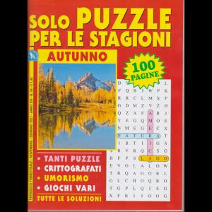 Solo puzzle per le stagioni - Autunno - n. 54 - trimestrale - novembre - gennaio 2021 - 100 pagine