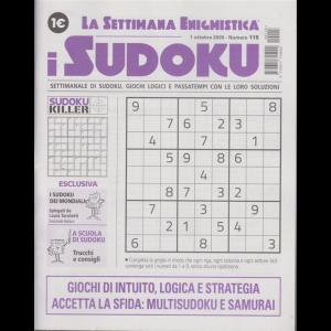La settimana enigmistica - i sudoku - n. 115 - 1 ottobre 2020 - settimanale