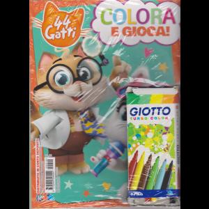 Sticker Games - 44 Gatti - Colora e gioca! - n. 10 - +  6 colori Giotto turbo color -  5/10/2020 - bimestrale