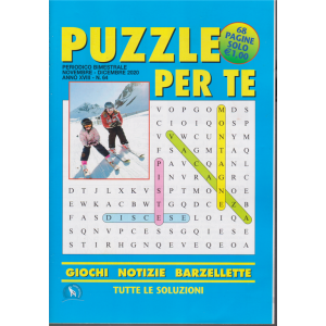 Puzzle per te - n. 64 - bimestrale - novembre - dicembre 2020 - 68 pagine